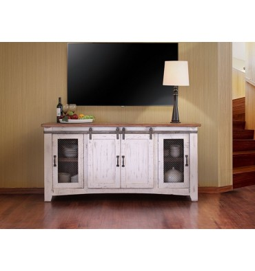 Southwest White Barndoor Unit
