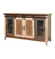 [60 inch] Multi Color Barndoor Console