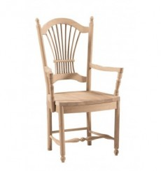 Wheat Back Arm Chairs