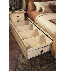 Amish Hickory Storage Bed
