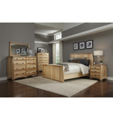 Aberdeen Hickory Panel Bed