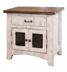 [28 inch] Rustic Barndoor End Table