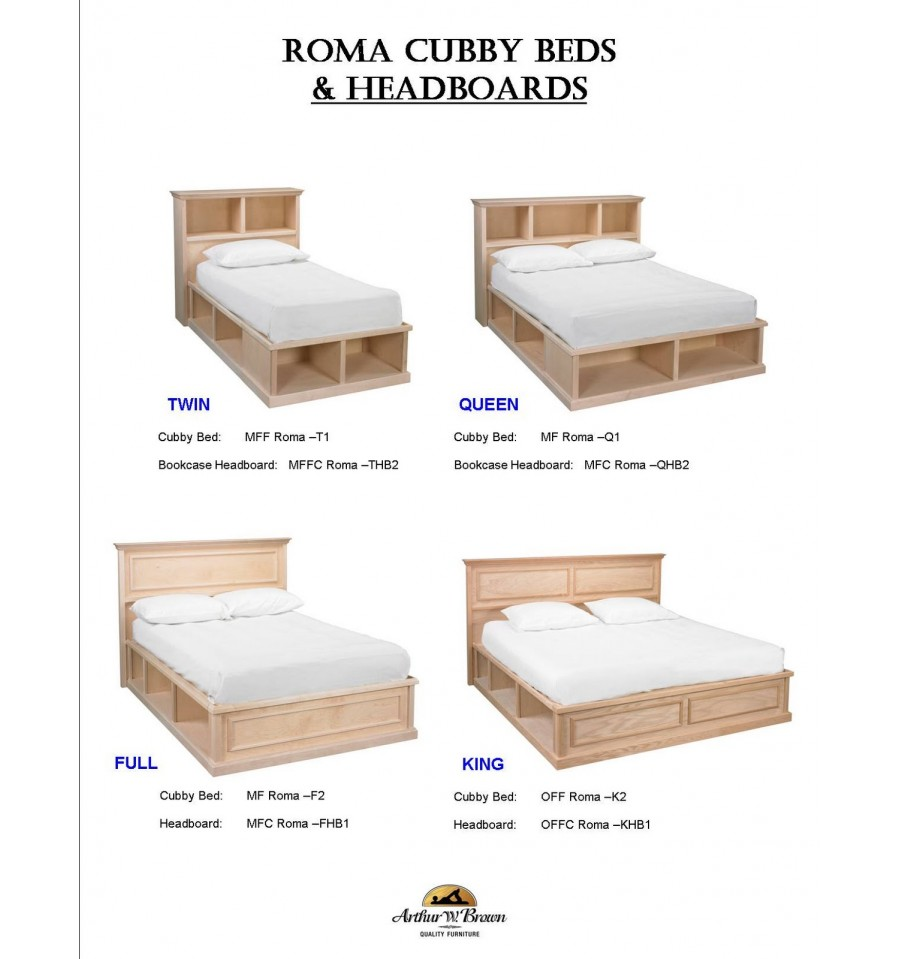 Awb Roma Cubby Platform Beds Simply Woods Furniture