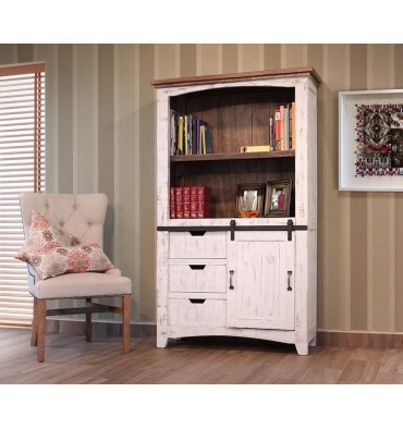 42 Inch Pueblo Barndoor Bookcase Simply Woods