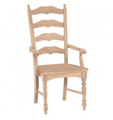 New England Ladderback Arm Chair