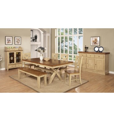 [42x66-84 inch] Quinley Trestle Dining Set