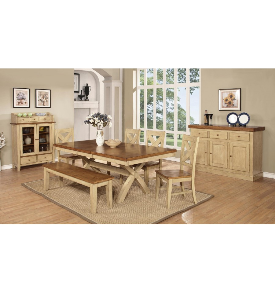 42x66 84 Inch Quinley Trestle Dining Set Simply Woods