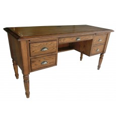 [60 inch] Cottage Oak Writing Desk