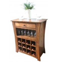 Amberlin Oak Wine Cabinet
