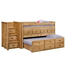Jr. Loft Beds with Storage & Trundle 4071T