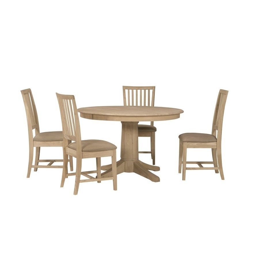 48 Inch Solid Top Round Table Simply Woods Furniture