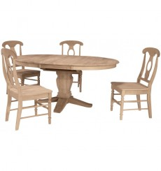 [48x48x66 inch] Butterly Ext. Pedestal Table