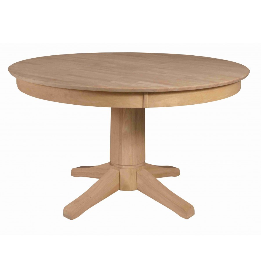 52 Inch Solid Top Pedestal Table Simply Woods