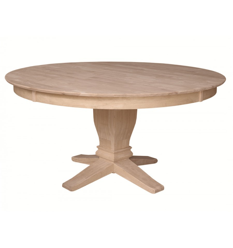 60x60 Inch Solid Top Pedestal Table Simply Woods