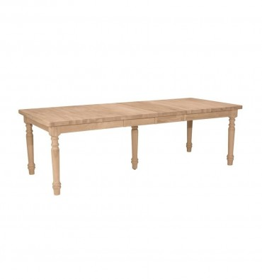 [40x66x81x96 inch] Ext. Dining Table w/2 leaves