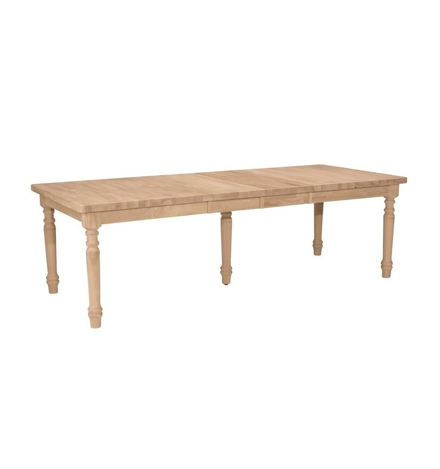 Xx Inch Ext Dining Table W Leaves Simply Woods Furniture - Dining table with 3 leaves