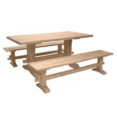 [36x72 inch] Thick Trestle Table