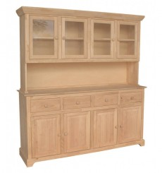 [71 inch] 4 dr. Buffet and Hutch