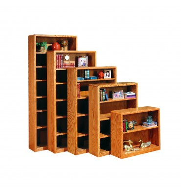 24 48 Inch Modern Oak Bookcases Simply Woods Furniture