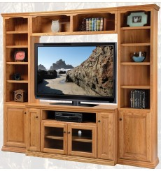 Oak Traditional Wall Unit
