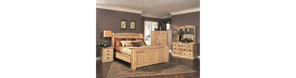 Amish Hickory Bedroom Collection